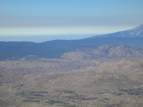 The Tehachapi Mountains and San Joaquin Valley beyond.