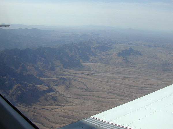 Galiuro Mountains in Southern Arizona. (looking back towards New Mexico).