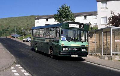 GaelicBus ESU425T Lochaber Rd Fort William Jun 88