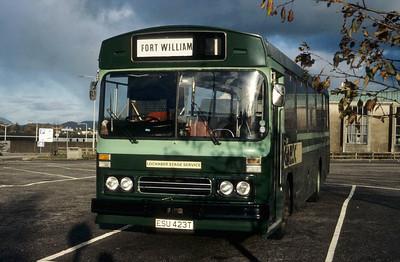 GaelicBus ESU423T Fort William Bus Stn Nov 86