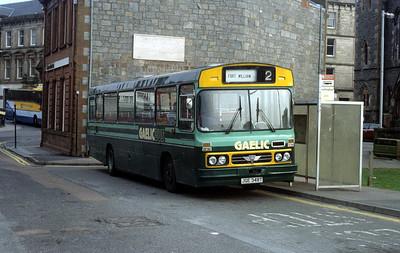 GaelicBus JGE348T Oban Railway Stn Apr 91