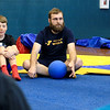 YMCA Camp Director at Wikaka camp in Richaond New Hampshire Peter Stahlbrand teaches seventh graders at Overlook Middle School Gaga Ball a popular game that's played at Summer Camps during his visit Tuesday, March 5, 2019. SENTINEL & ENTERPRISE/JOHN LOVE