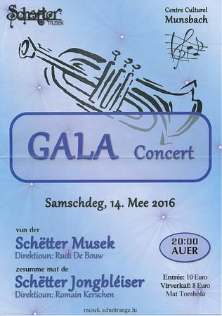 Gala Concert Harmonie Schuttrange 2016