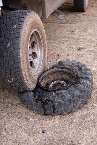 Takes a bit of work to pop the bead on a UTV tire
