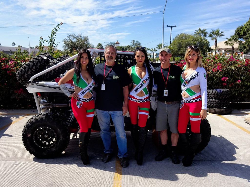 With the Baja Rally Girls