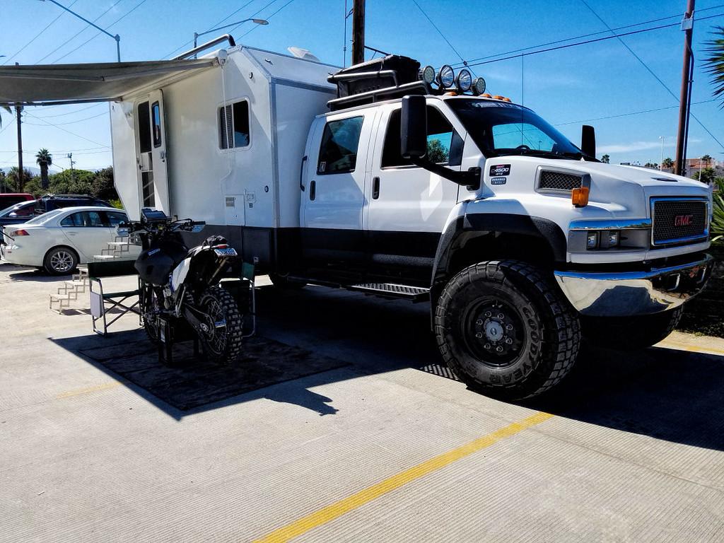 John Deykes Husqvarna 501 and a sweet support vehicle