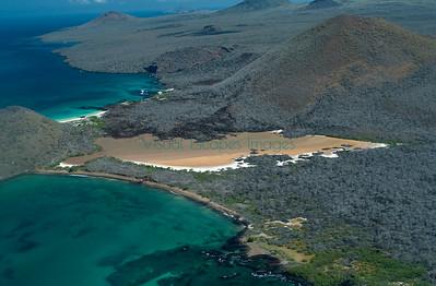 Punta Cormorant, Floreana; Overflights Galapagos January 2001