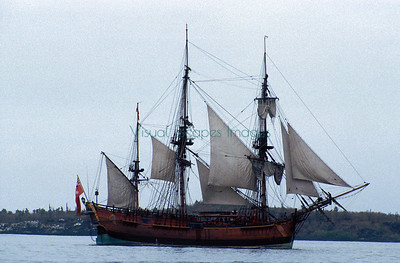 Replica of sailing ship Endeavour