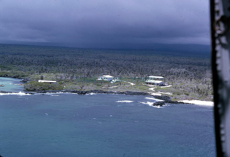 Darwin Lab from helicopter 1964