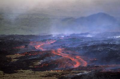 Volcan Bravo eruption, Southern Isabela Island, Galapagos Sept 1998