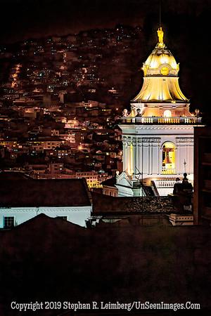 Church at Night Quito Copyright 2020 Steve Leimberg UnSeenImages Com _DSC1099