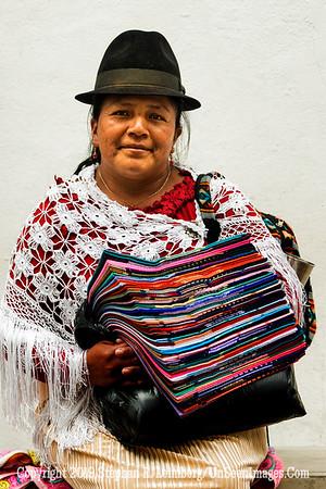 Woman Selling Cloth Quito Copyright 2020 Steve Leimberg UnSeenImages Com _DSC5285