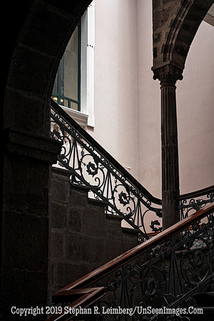 Staircase in Quito Copyright 2020 Steve Leimberg UnSeenImages Com _DSC1173