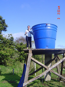 Alison and the CEDEVIS water tank.