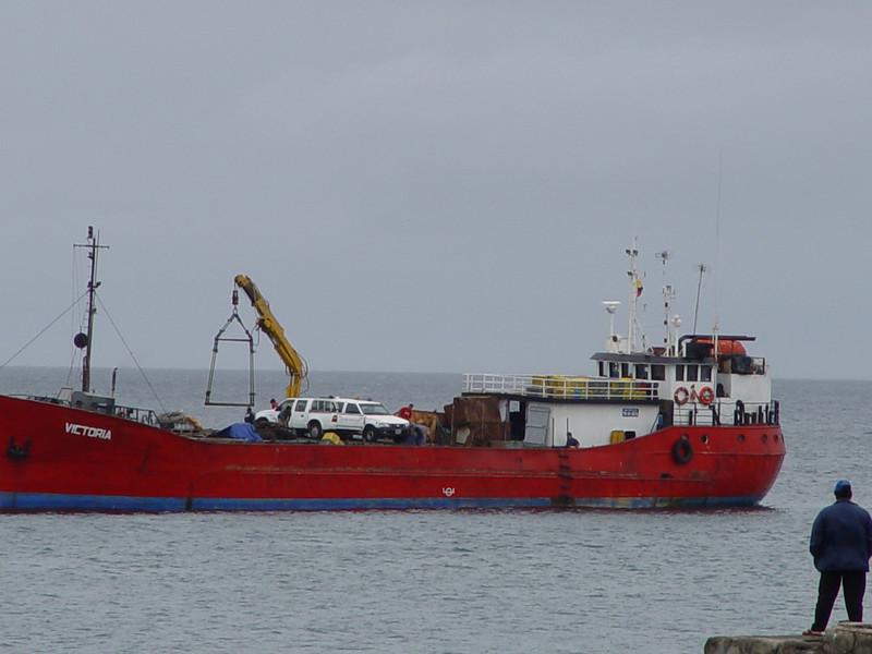 unloading at the docks