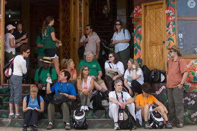 US Teachers at Hotel Miconia Puerto Baquerizo Moreno, San Cristobal Island, GALAPAGOS, ECUADOR