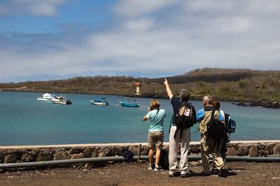 Sue Cullumber, John Herzfeld, Eduardo Del Solar & Mary Rydzewski Puerto Baquerizo Moreno, San Cristobal Island, GALAPAGOS, ECUADOR