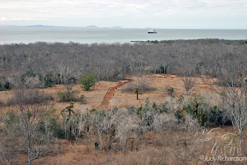 View of Santa Cruz Island from Dragon Hill~Galapagos, Ecuador