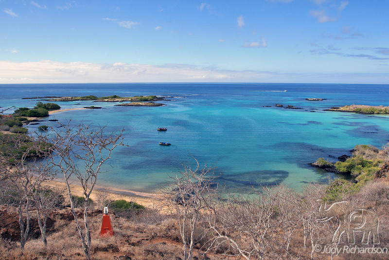 Spectacular view from Baroness Lookout on Floreana Island