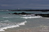 Bachas Beach with Celebrity Xpedition in back-ground from Santa Cruz Island~Galapagos, Ecuador