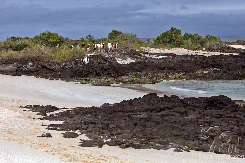 Bachas Beach with cruise mates on Santa Cruz Island~Galapagos, Ecuador