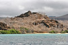 View of Baroness Lookout from zodiac making an approach to Floreana Island~Galapagos, Ecuador