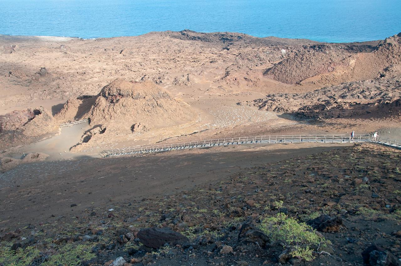 The walkway up to the peak on Bartolome Island