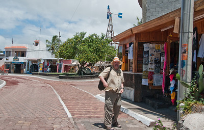 Anthony Sandberg in Puerto Ayora, the only real town in the Galapagos