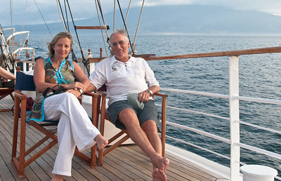 Leo LeBon, the founder of Sobek Mountain Travel, and his wife Nadia, on Leo's 75th birthday.