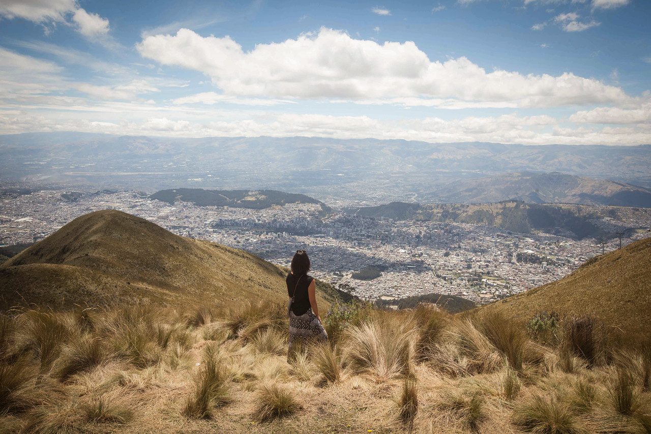 View of Quito from Teleferico