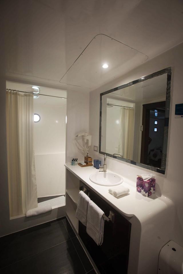 Bathroom on the Royal Galapagos