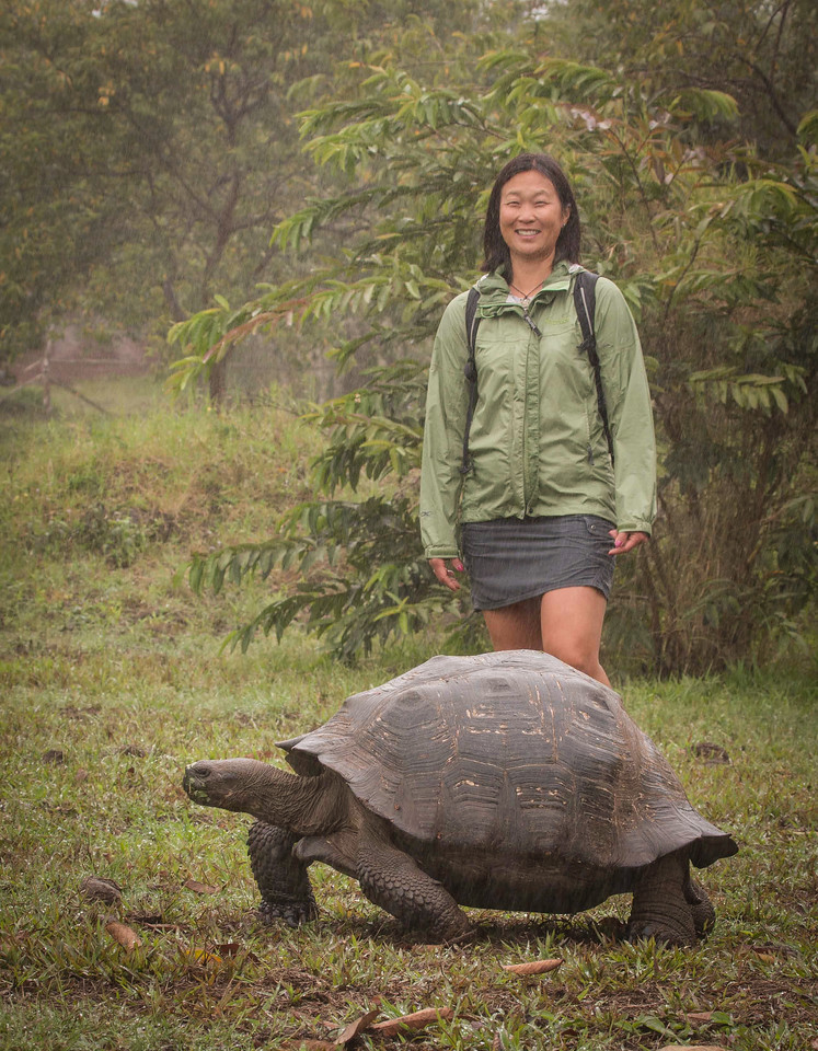 The Author Posing with a Land Tortoise