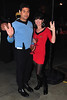 Avinash Sud and Jennifer Smith dressed as Mr Spock and a Starfleet Officer