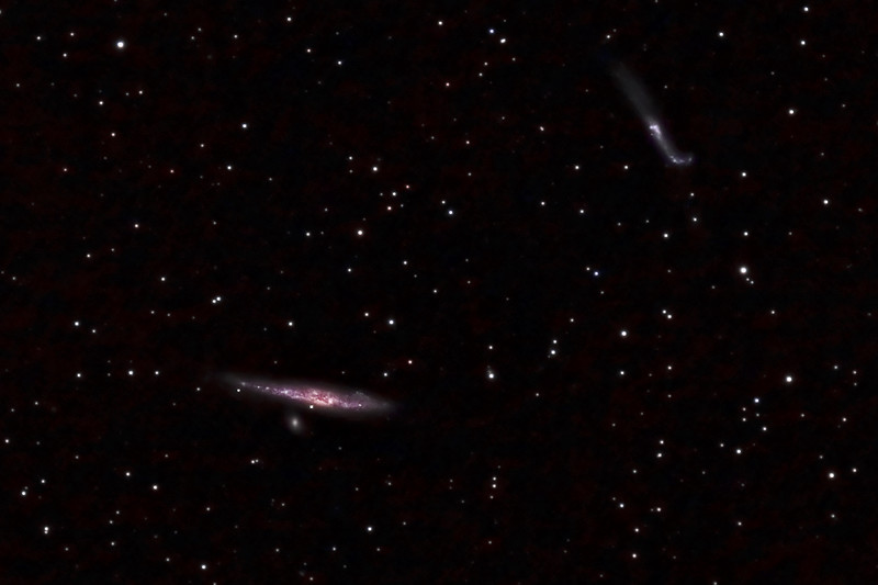 NGC 4631 - Whale Galaxy and NGC 4656/57 - Hockey Stick Galaxy