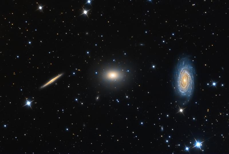 NGC5985, NGC5982, NGC5981 Draco Triplet