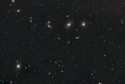 A section of Markarian's Chain of galaxies