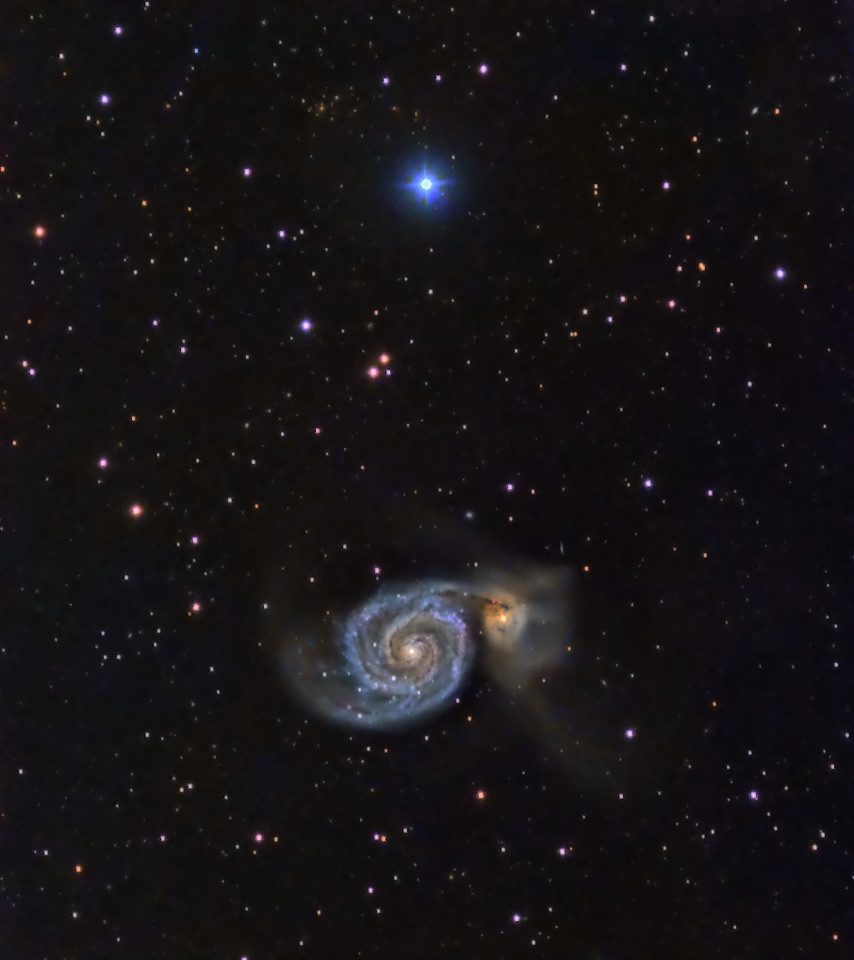 The Whirlpool Galaxies (M51)