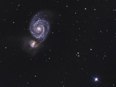 M51 &  Star  HD 117815