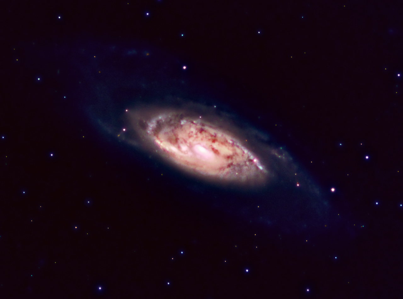 M106   Location: Washington County, PA  Equipment: QHY8 Camera via Nexstar 11 Stack of 1100 sec. exposures  Software: Maxim DL Photoshop CS5