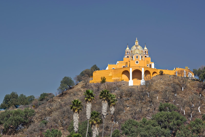 a church on a hill