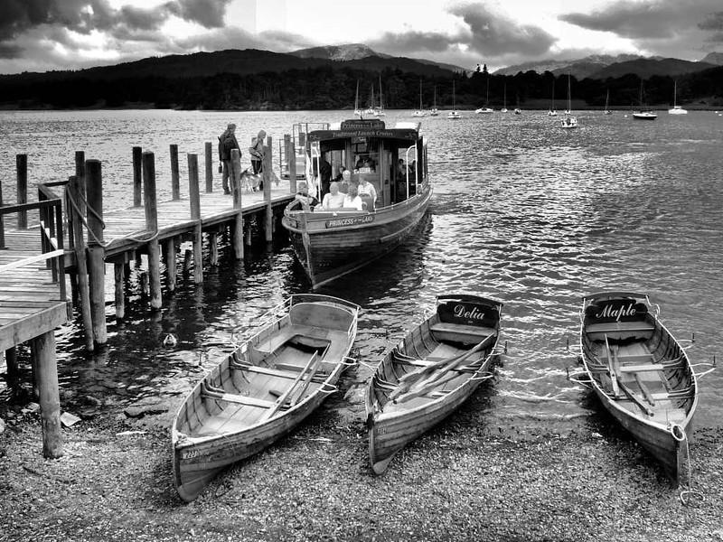 Barcos em Ambleside