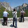 Fotógrafos no Parque Yosemite