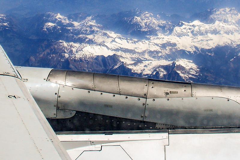Vista Aérea dos Alpes