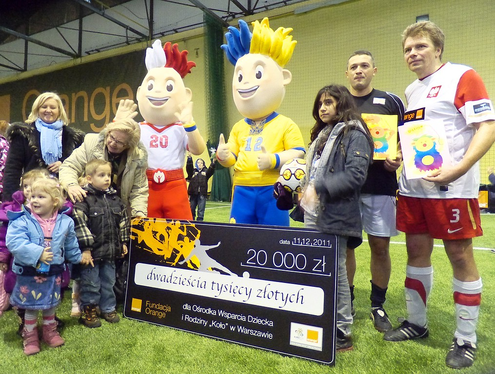 Czek dla dzieci z maskotkami Euro na 2012 rok
