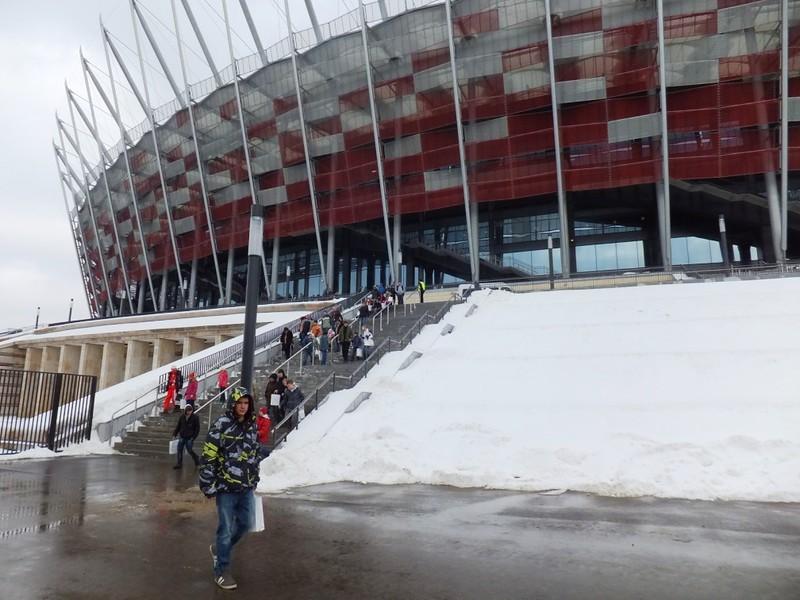 Wejście na Stadion Narodowy
