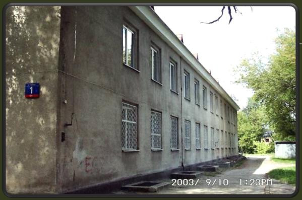 Widok budynku od ul. Dalibora