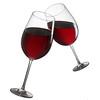 Brinde com taças de vinho tinto