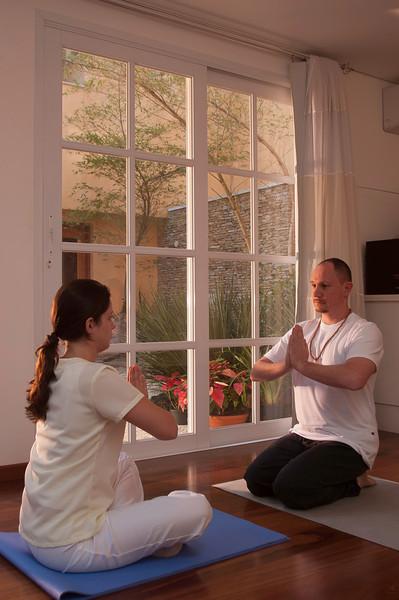 Sala de Yoga para relaxamento