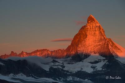 Amanecer en el Matterhorn