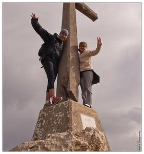 Subimos hasta la cruz !!!
